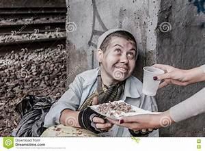 Homeless Woman Getting Help Stock Photo - Image: 77594926