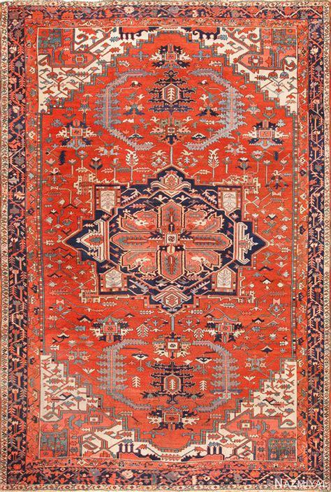 Beautiful Large Antique Serapi Persian Rug 49325 by Nazmiyal