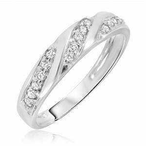 1 4 carat tw diamond women39s wedding ring 14k white gold With wedding rings white gold