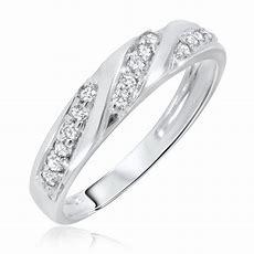 14 Carat Tw Diamond Women's Wedding Ring 10k White Gold