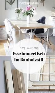 Esszimmertisch Selber Bauen : diy esszimmertisch selber machen k che ~ Frokenaadalensverden.com Haus und Dekorationen