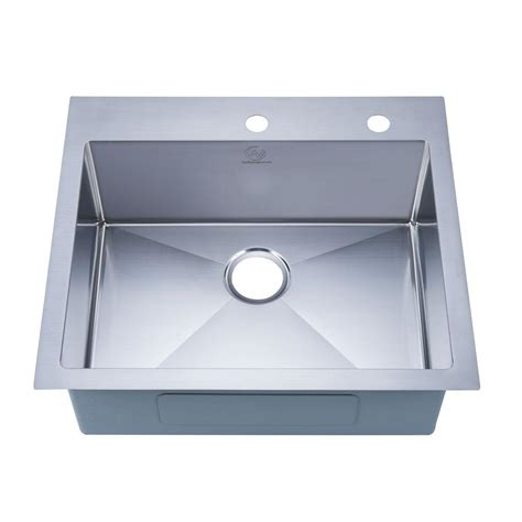 bowl kitchen sink stufurhome nationalware drop in stainless steel 25 in 2 6514