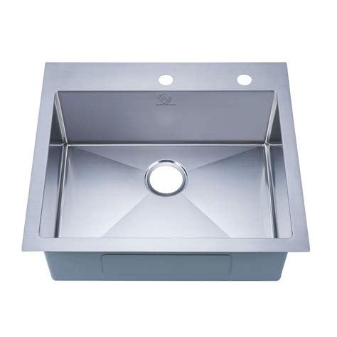 single basin stainless steel sink stufurhome nationalware drop in stainless steel 25 in 2