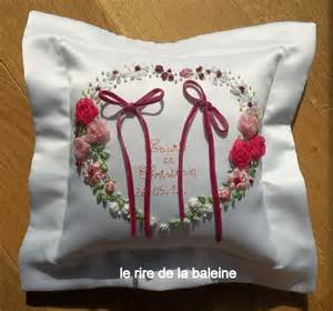 mariage coussin pour alliance 224 broder