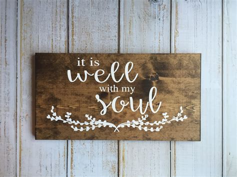 it is well with my soul hand painted typography sign prim proper