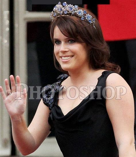 Princess Eugenie with the Barberini Sapphire tiara ...