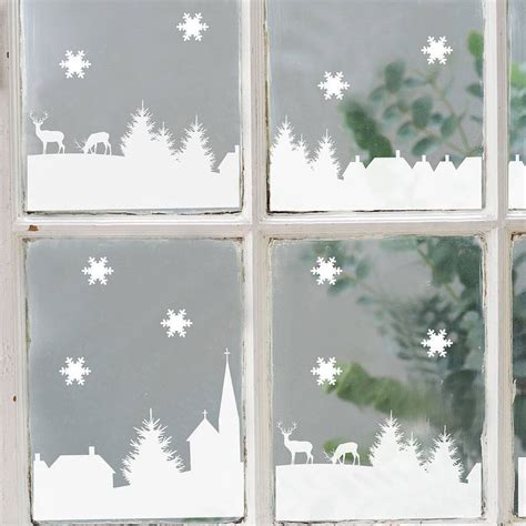 christmas window stickers ideas  pinterest