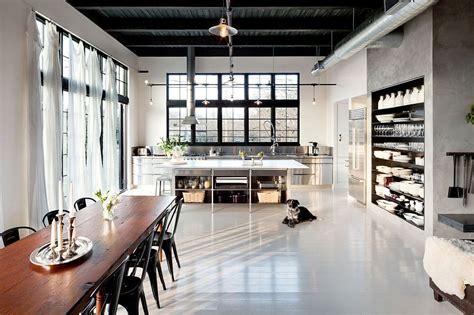concrete kitchen design energy efficinet portland home with vintage industrial style Industrial