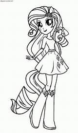 Colorear Dibujos Equestria Pony Coloring Printable Colorir Pintar Personajes Rarity Sin Desenhos Imagenes Imprimir Imagen Ausmalbilder Coloriage Canterlot Doll Rainbow sketch template
