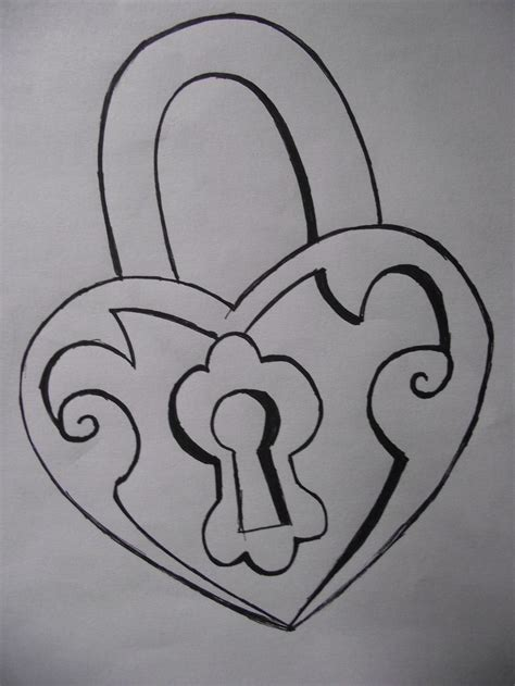 key and lock drawings simple tattoo idea; easy drawing ...