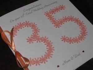 personalised handmade 35th coral wedding anniversary card With 35th wedding anniversary symbol