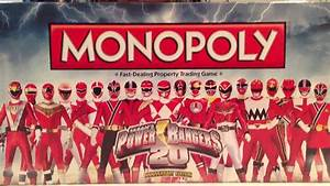 Power Rangers Monopoly 20th Anniversary Edition  Power