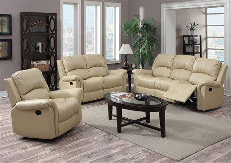 beige leather reclining sofa best buy furniture and mattress beige bonded leather