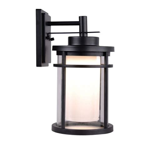 outdoor ls home depot home decorators collection black outdoor led medium wall