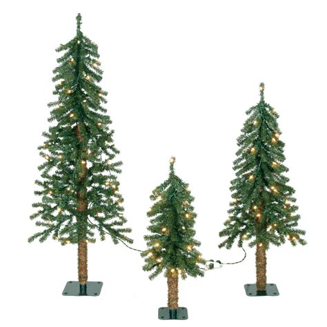 2ft 3ft 4ft unlit alpine artificial christmas trees set