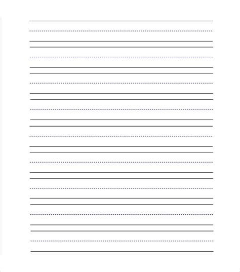 11 line paper templates free sample example format 513 | Preschool Lined Paper Templates