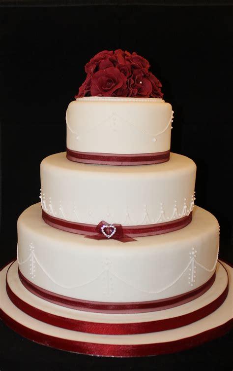 Valentines Day 3 Tier Wedding Cake