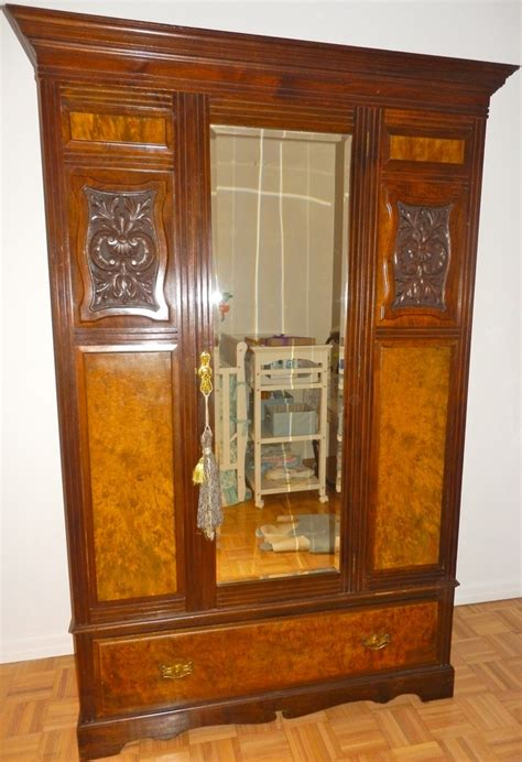 S Wardrobe Closet by Antique American 1920 S Mahogany Walnut Armoire Wardrobe