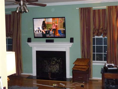 mounting tv  fireplace   put components attj