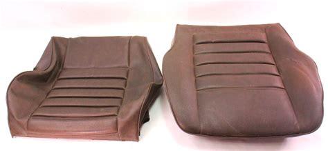 brown vinyl front seat cover   vw rabbit mk genuine