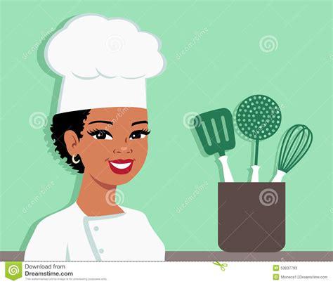 kitchen chef baker illustration of stock