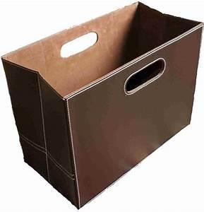Porte Revue Cuir : porte revues magazines marron simili cuir ~ Teatrodelosmanantiales.com Idées de Décoration