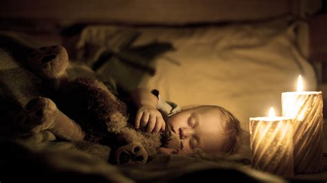 sleepy baby night light baby sleep and candle light good night new hd
