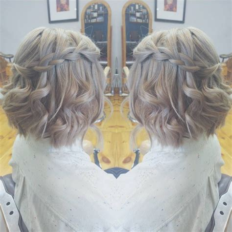easy lovely waterfall braid styles  short medium