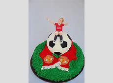 Groom's Soccer Ball Manchester United Cake CakeCentralcom