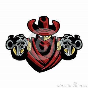 Outlaw Cowboy .Skull With Revolver Stock Vector - Image ...