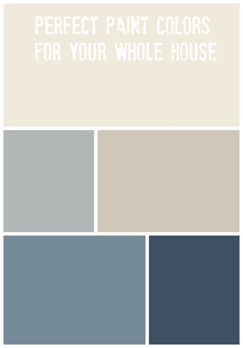 whole house paint palette diy home decor ideas house