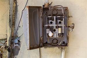Old Metal Open Fuse Box Photo