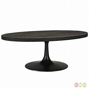 drive industrial modern round wood top coffee table w cast With black round wooden coffee table