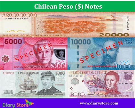 Chilean Peso Currency Chile Bank Notes