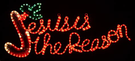 jesus outside christmas lights outdoor decoration 20 quot rope light jesus is the reason motif