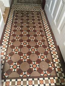 original victorian tiled hallway brought back to life at