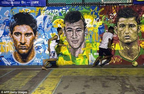 brazils streets decorated  murals  build