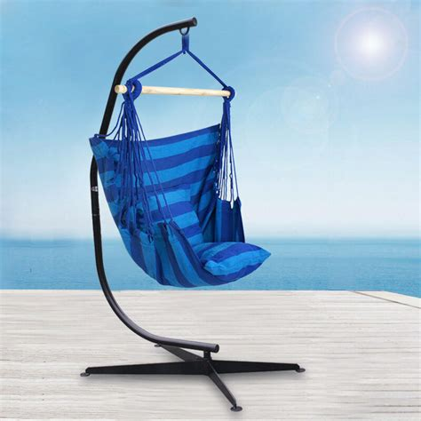 Hammock Stand Indoor by C Hammock Frame Stand Solid Steel Outdoor Indoor Comfort