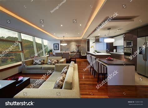 design your kitchen room designer interior design big modern living room stock photo 9850