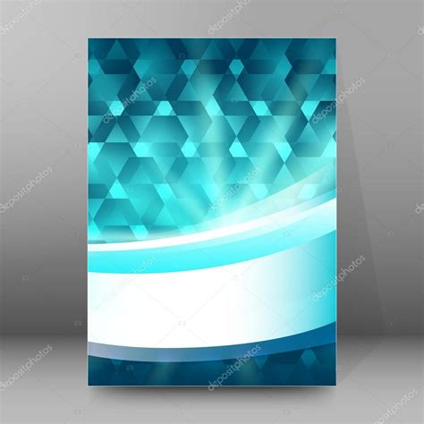 Background report brochure Cover Pages A4 style abstract