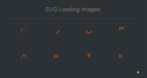 It allows designers to create exciting graphics with interactivity and animation. Animated SVG for use as loading animations