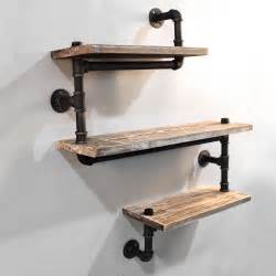 Rustic Country Bathroom Ideas Rustic Industrial Diy Floating Pipe Shelf 3 Tier Wall Yds Au