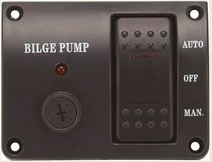 Bilge Pump Switch Panel Auto  Off  Manual Rocker Switch 12