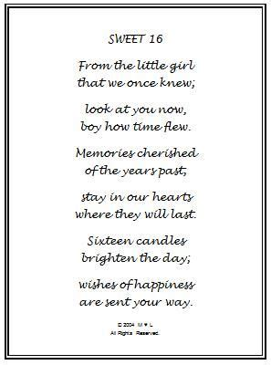 happy sweet sixteen birthday poem  birthday wishes
