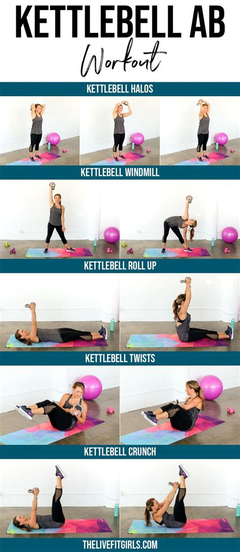 kettlebell exercises workout ab core workouts abs stomach target challenge strengthen arms weight training swings thelivefitgirls