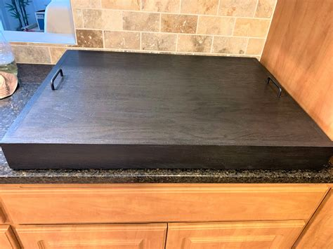 thick oak stove top cover wooden stove top covers stove
