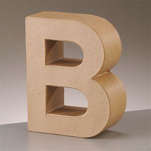 Paper mache large cardboard letters signs 3d craft 17 for Large cardboard letters