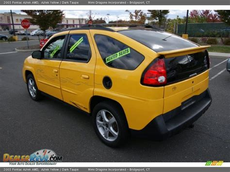 pontiac aztek yellow 2003 pontiac aztek awd aztek yellow dark taupe photo 7