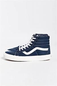 vans sk8 hi reissue canvas sneaker in blue for lyst