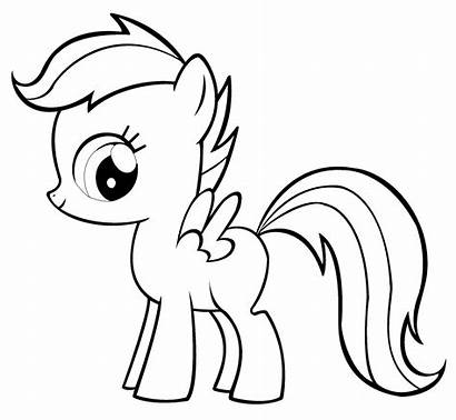 Coloring Pages Pony Scootaloo Apple Bloom Drawing